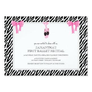 """Ballet Recital Invitations 5"""" X 7"""" Invitation Card"""