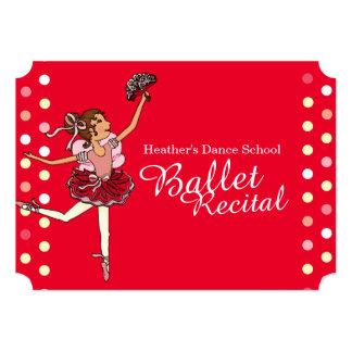 Ballet recital kids ballerina invitation