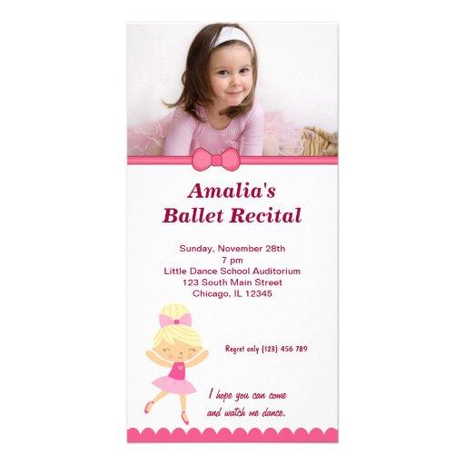 Ballet Recital Custom Photo Card