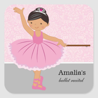 Ballet recital square sticker