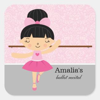 Ballet recital square sticker