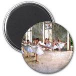 Ballet Rehearsal 2 Inch Round Magnet