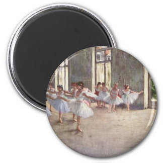 Ballet Rehearsal by Degas 2 Inch Round Magnet