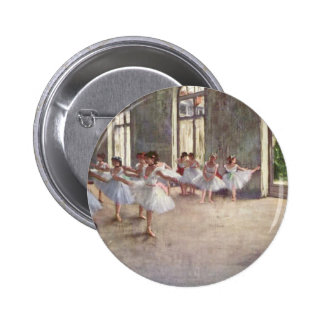 Ballet Rehearsal by Degas 2 Inch Round Button