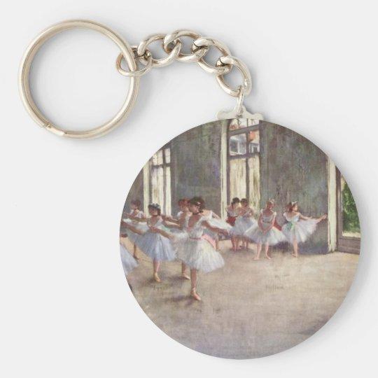 Ballet Rehearsal by Degas Keychain