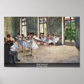 Ballet Rehearsal By Edgar Degas Poster