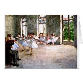 Ballet Rehearsal Card