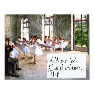 Ballet Rehearsal Invitations