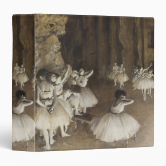 Ballet Rehearsal On Stage by Edgar Degas Binder