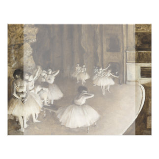 Ballet Rehearsal On Stage by Edgar Degas Flyer