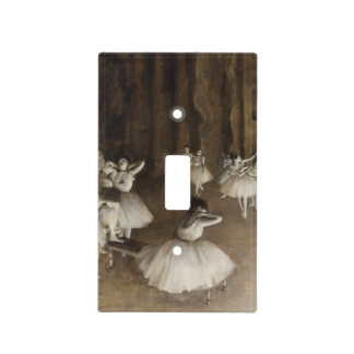 Ballet Rehearsal On Stage by Edgar Degas Light Switch Cover