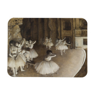 Ballet Rehearsal On Stage by Edgar Degas Magnet