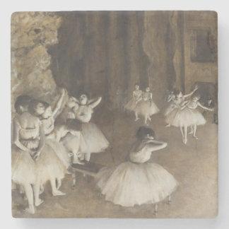 Ballet Rehearsal On Stage by Edgar Degas Stone Coaster