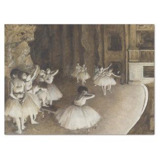 Ballet Rehearsal On Stage by Edgar Degas Tissue Paper