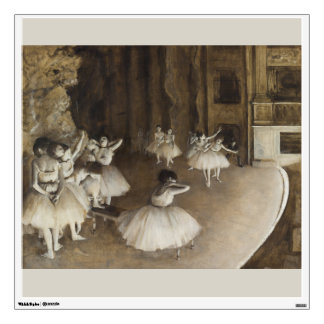 Ballet Rehearsal On Stage by Edgar Degas Wall Sticker