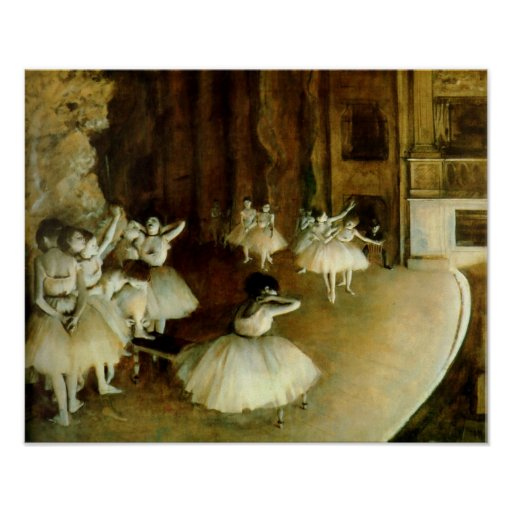 Ballet Rehearsal On Stage Posters