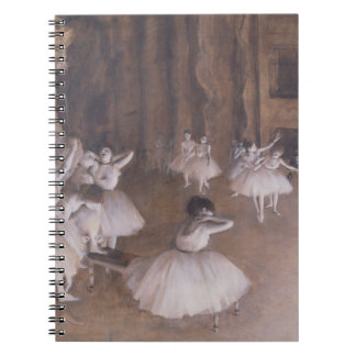 Ballet Rehearsal on the Stage, 1874 Spiral Notebook