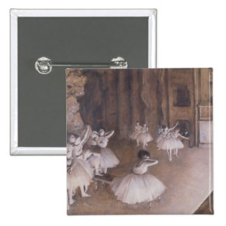 Ballet Rehearsal on the Stage, 1874 Pinback Button