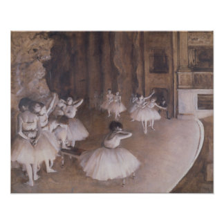 Ballet Rehearsal on the Stage, 1874 Posters