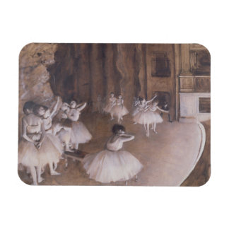 Ballet Rehearsal on the Stage, 1874 Rectangular Photo Magnet