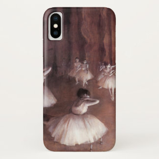 Ballet Rehearsal on the Stage by Edgar Degas iPhone X Case