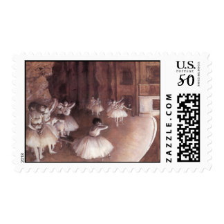 Ballet Rehearsal On The Stage Postage