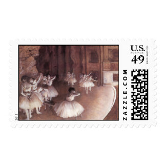 Ballet Rehearsal On The Stage Postage Stamp