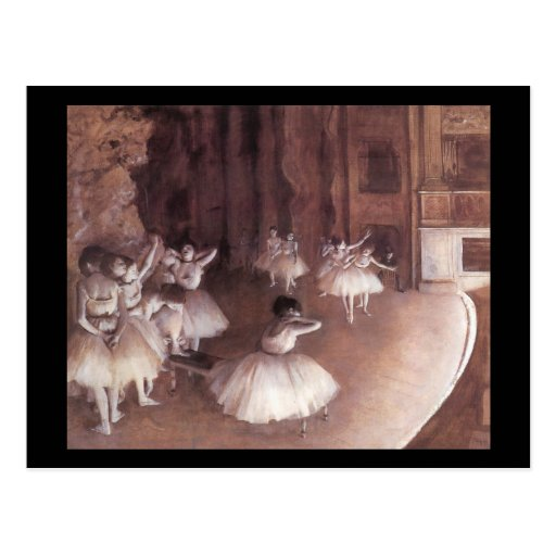 Ballet Rehearsal On The Stage Postcard