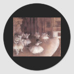Ballet Rehearsal On The Stage Classic Round Sticker
