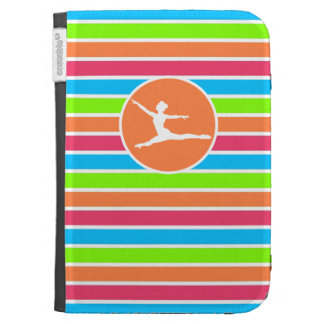 Ballet; Retro Neon Rainbow Kindle 3 Case