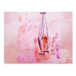 Ballet rosado del bailarín de la bailarina de la a tarjetas postales
