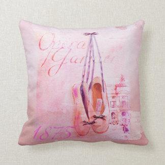 Ballet rosado del bailarín de la bailarina de la cojín