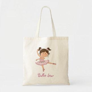 Ballet rosado lindo Starg de la bailarina 1 Bolsa De Mano