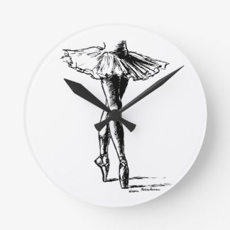 Ballet Round Clock