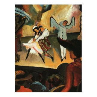 Ballet ruso en agosto Macke Postales