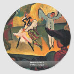 Ballet ruso (i) de Macke agosto Pegatina Redonda