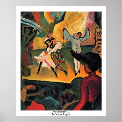 Ballet ruso (i) de Macke agosto Posters