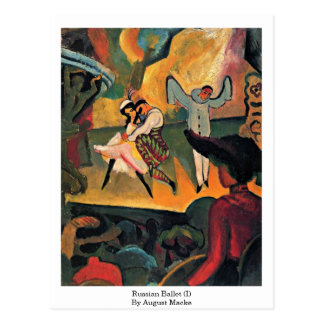 Ballet ruso (i) en agosto Macke Postales