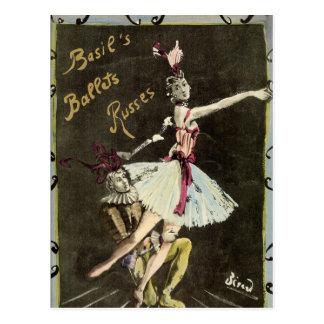Ballet Russe Dancers Postcard