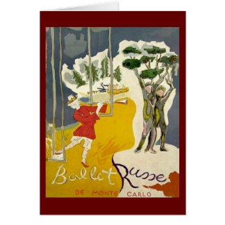 Ballet Russe de Monte Carlo Greeting Card