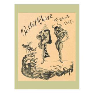 Ballet Russe de Monte Carlo Postcard