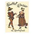 Ballet Russe Harlequin Dancers Postcard