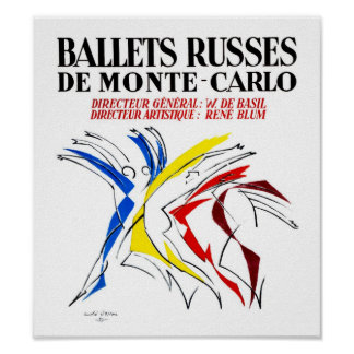 Ballet Russes - Abstract Dancer Lover Art Poster
