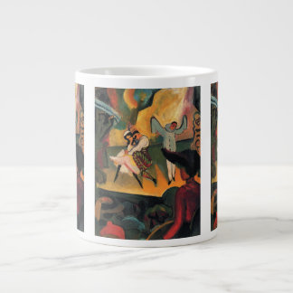 Ballet Russes, Russian Ballet by August Macke Giant Coffee Mug