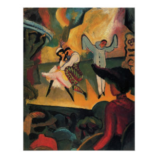 Ballet Russes, Russian Ballet by August Macke Poster