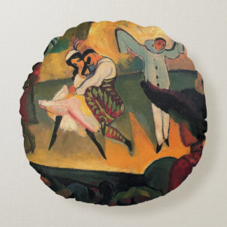 Ballet Russes, Russian Ballet by August Macke Round Pillow