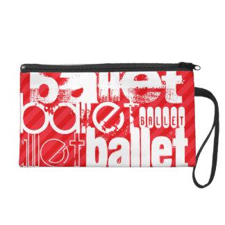 Ballet; Scarlet Red Stripes Wristlet