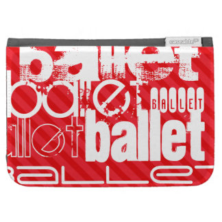 Ballet; Scarlet Red Stripes Kindle 3 Covers