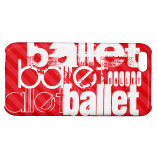 Ballet; Scarlet Red Stripes Cover For iPhone 5C