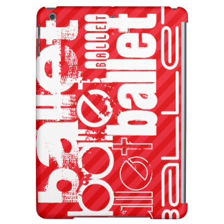 Ballet; Scarlet Red Stripes iPad Air Covers